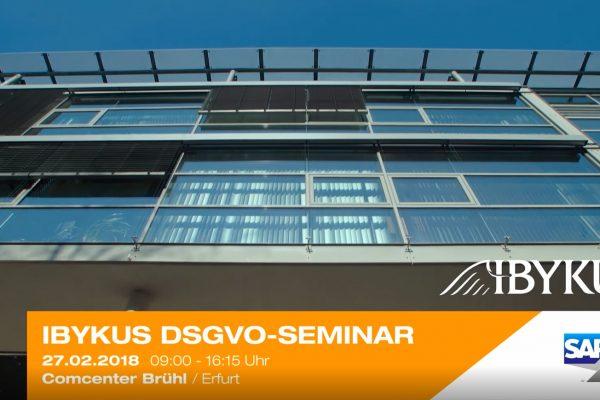 DSGVO optimal umsetzen: IBYKUS informiert Kunden zum Datenschutz